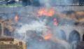 Şanlıurfa'da tarihi han'da yangın