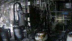 Otomotiv fabrikasında yangın