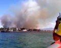 Edremit'te yangın