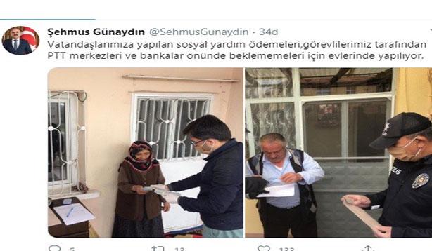 1000 TL'lik yardım vatandaşların adreslerine teslim ediliyor
