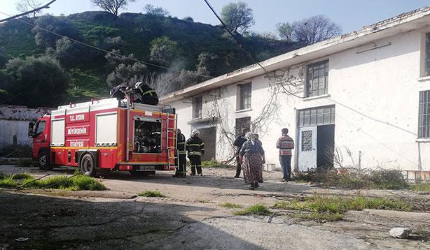 Zeytinyağı fabrikasındaki yangın korku dolu anlara neden oldu