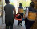 Asansör kazası ucuz atlatıldı