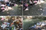Urfa-Adıyaman yolu üzerinde bulunan şelale çöpten geçilmiyor