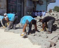 Eyyübiye'de kilitli parke çalışması