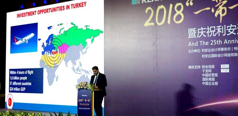 Önen, 'Kuşak ve Yol' Formunda Türkiye'de yatırım olanaklarını anlattı