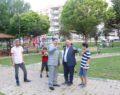 Başkan Canpolat, parkta incelemelerde bulundu