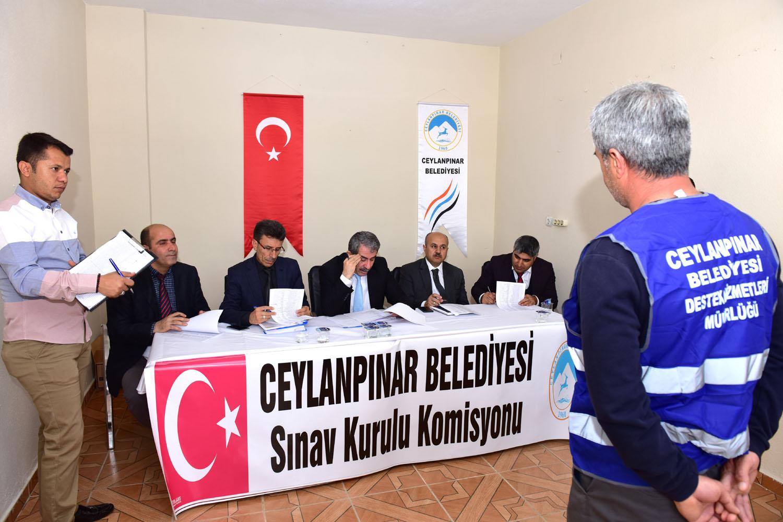 Ceylanpınar Belediyesi'nde taşeron sınavı yapıldı