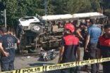 Kamyonet motosikletli çifte çarptı: 1 ölü, 2 yaralı