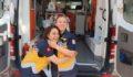 Anne ve kızı aynı ambulansta görev başında