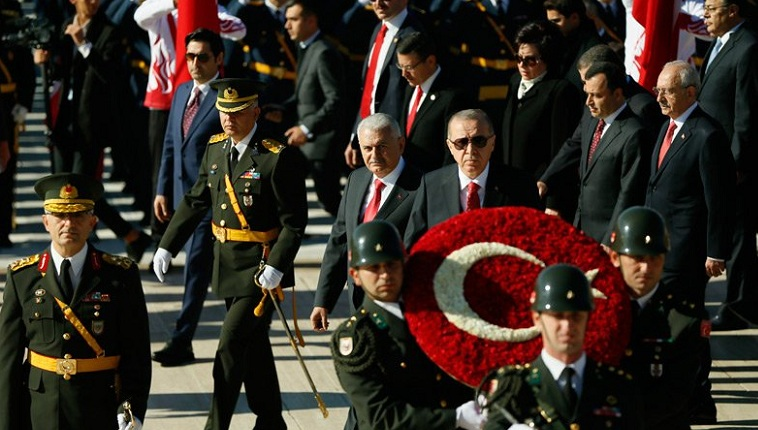 Anıtkabir'de 29 Ekim Cumhuriyet Bayramı töreni