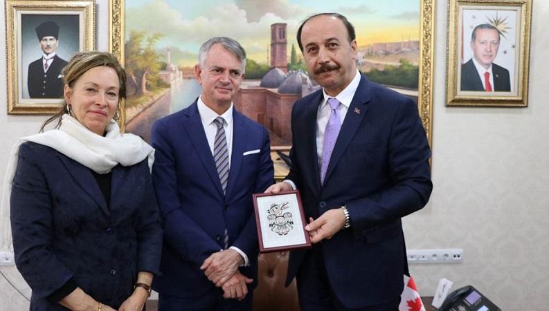Kanada Anakara Büyükelçisi Cooter Şanlıuraf'da