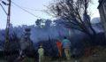 Köyde çıkan yangın 4 evi kül etti