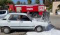Urfa'da seyir halindeki araç alev aldı