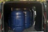 570 litre kaçak şarap ele geçirildi
