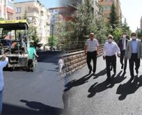 Haliliye'de asfalt çalışmaları incelendi