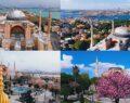 4 mevsimde Ayasofya , kartpostallık manzaralar oluşturdu