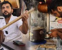 Urfalı genç, hem türkü söylüyor hem de tamir yapıyor