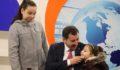 Baydilli'ye çocuklarından canlı yayın sürprizi