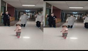 Bir yaşındaki bebek koronayı yendi