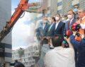 Büyükşehir Belediye binasının yıkımına başlandı