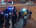 Beyazgül 2021'in ilk dakikalarını polis ve basın mensuplarıyla geçirdi