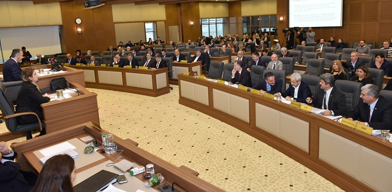 2019 yılı mali bütçesi, 2 milyar 550 milyon TL olarak kabul edildi