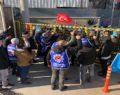 Sendikaya üye oldukları için baskı gören işçiler greve gitti
