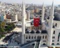 Tarihi mimari ile inşa edilen cami hizmete açıldı