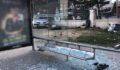 Üniversite öğrencisi otobüs durağına daldı