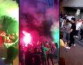 Koronavirüsü hiçe saydılar: Meşaleli danslı eğlence
