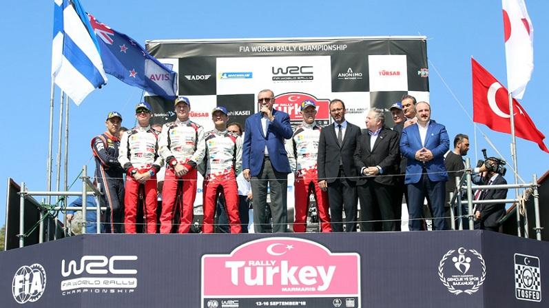 Cumhurbaşkanı Erdoğan, Dünya Ralli Şampiyonası ödül törenine katıldı