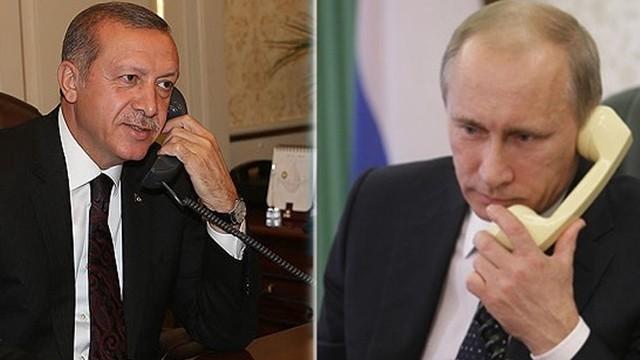 Cumhurbaşkanı Erdoğan, Putin'le Afrin'i görüştü