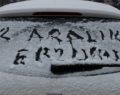 Erzurum kara kışa teslim oldu
