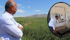 Kurduğu sistem sayesinde ekinlerini kuraklıktan korudu