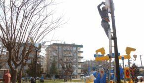 Parklara güvenlik kameraları yerleştiriliyor