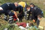 Uyuya kalan gencin üzerine toprak döküldü
