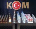 Operasyonda çok sayıda kaçak içki ele geçirildi