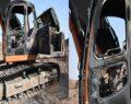 Şanlıurfa'da iş makineleri kundaklandı