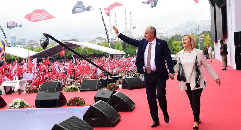 Muharrem İnce'nin son mitingi İstanbul Maltepe'de
