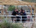 Polis intiharı çiçek ile engelledi