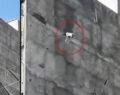 Şanlıurfa'da köpeğin çatıdan atlama anı kamerada