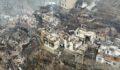 60 hanenin yandığı köy havadan görüntülendi