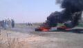 Köylüler Dedaş'a isyan edip yol kapattı