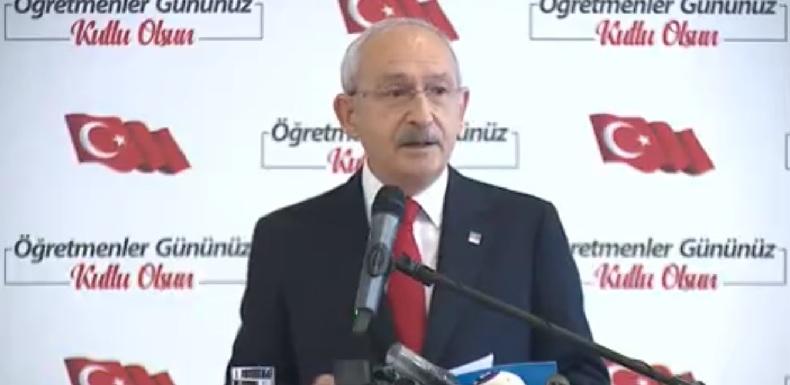 Kılıçdaroğlu Öğretmenler günü buluşmasında
