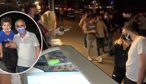 Kısıtlamasız gecede vatandaşlar sokağa döküldü