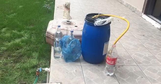 1 ton kaçak içki ele geçirildi