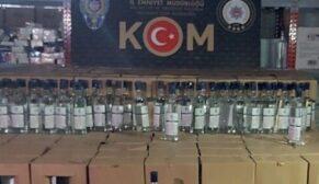 2 bin 140 litre kaçak etil alkol ele geçirildi