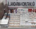 Jandarma,kaçak sigara üretimi yapan 2 şüpheliyi yakaladı