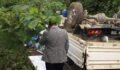 Kamyonet uçurumdan bahçeye yuvarlandı