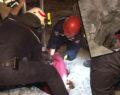 Akılalmaz olay: İtfaiye ekipleri kurtardı